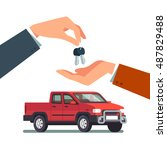 buying or renting a new or used ... | Shutterstock .eps vector #487829488