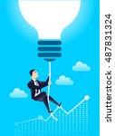business leader finance manager ... | Shutterstock .eps vector #487831324