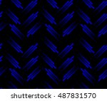 blue neon tech seamless pattern.... | Shutterstock .eps vector #487831570
