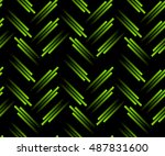 green neon tech seamless... | Shutterstock .eps vector #487831600