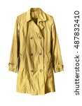 yellow stylish raincoat on...   Shutterstock . vector #487832410