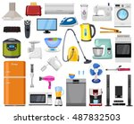 set of home  kitchen and house... | Shutterstock .eps vector #487832503