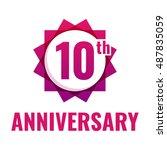 10th anniversary celebration....   Shutterstock .eps vector #487835059