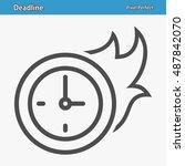 deadline icon. professional ... | Shutterstock .eps vector #487842070