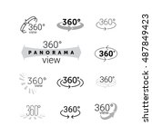 360 degrees view icon. vector... | Shutterstock .eps vector #487849423