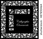 decorative calligraphic... | Shutterstock .eps vector #487850464