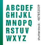 latin alphabet colored  bright. ... | Shutterstock .eps vector #487852039