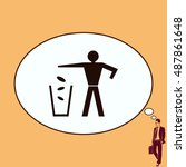 throw away the trash icon ... | Shutterstock .eps vector #487861648