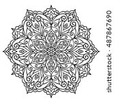 mandala. ethnic decorative... | Shutterstock .eps vector #487867690