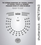 the german bundesrat or federal ... | Shutterstock .eps vector #487873963