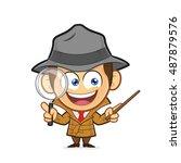 detective explaining something | Shutterstock .eps vector #487879576