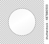 empty white paper plate. vector ... | Shutterstock .eps vector #487880503