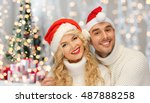 people  christmas  holidays and ... | Shutterstock . vector #487888258