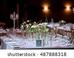 beautiful flowers on table in... | Shutterstock . vector #487888318