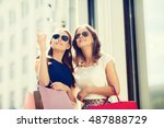 sale  consumerism and people... | Shutterstock . vector #487888729