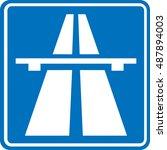 traffic signs motorway | Shutterstock .eps vector #487894003