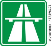 motorway sign | Shutterstock .eps vector #487896178