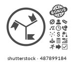 flags icon with bonus symbols.... | Shutterstock .eps vector #487899184