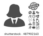 business lady pictograph with... | Shutterstock .eps vector #487902163