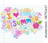 Hand Drawn I Love Summer...