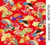the beautiful pattern of japan | Shutterstock .eps vector #487924750