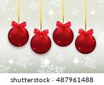 christmas balls. christmas... | Shutterstock .eps vector #487961488