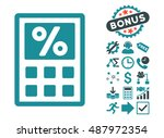 tax calculator icon with bonus... | Shutterstock .eps vector #487972354