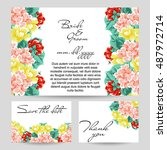 romantic invitation. wedding ... | Shutterstock . vector #487972714