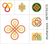 pattern icon set | Shutterstock .eps vector #487975573