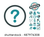 question icon with bonus icon... | Shutterstock .eps vector #487976308