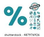 percent icon with bonus design... | Shutterstock .eps vector #487976926