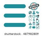menu items icon with bonus... | Shutterstock .eps vector #487982809