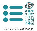 items pictograph with bonus... | Shutterstock .eps vector #487986553