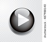 black transparent play button... | Shutterstock .eps vector #487988140