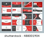 business card templates.... | Shutterstock .eps vector #488001904