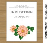 greeting card or invitation... | Shutterstock . vector #488008900
