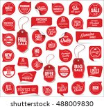 modern badges and labels... | Shutterstock .eps vector #488009830