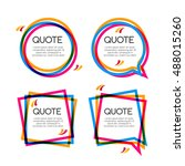 set quote frame  colorful... | Shutterstock . vector #488015260