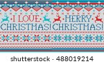 i love christmas  merry... | Shutterstock .eps vector #488019214