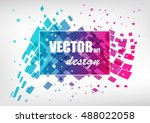 abstract colorful business... | Shutterstock .eps vector #488022058