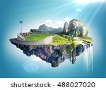 amazing fantasy scenery with... | Shutterstock . vector #488027020