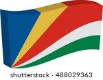 flag of seychelles. vector...   Shutterstock .eps vector #488029363