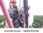 tower technician on the... | Shutterstock . vector #488030338