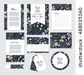 vector gentle wedding  template ... | Shutterstock .eps vector #488035360