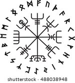 vegvisir  the magic navigation... | Shutterstock .eps vector #488038948