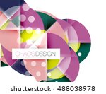 geometric abstract composition  ... | Shutterstock .eps vector #488038978