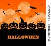halloween holiday graphic... | Shutterstock .eps vector #488053204