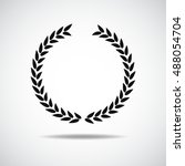 laurel icon isolated on white... | Shutterstock .eps vector #488054704