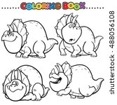 cartoon coloring book  ... | Shutterstock .eps vector #488056108