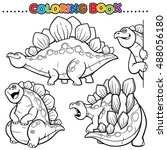 cartoon coloring book  ... | Shutterstock .eps vector #488056180